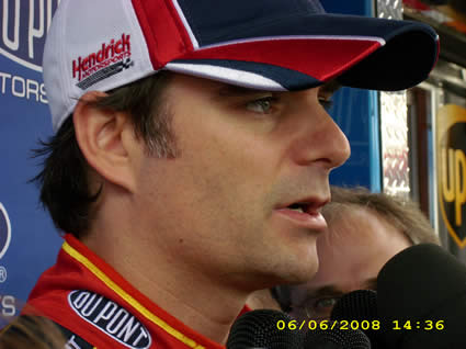 Jeff Gordon at Pocono WTBQ
