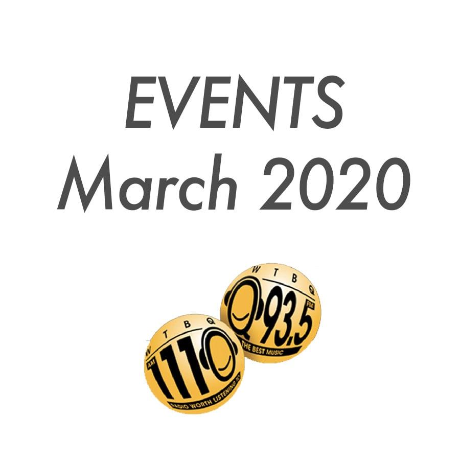 March events at WTBQ post